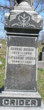 CRIDER, GEORGE - Montgomery County, Ohio | GEORGE CRIDER - Ohio Gravestone Photos