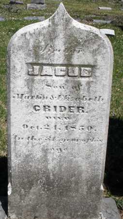 CRIDER, JACOB - Montgomery County, Ohio | JACOB CRIDER - Ohio Gravestone Photos