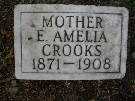 CROOKS, E. AMELIA - Montgomery County, Ohio   E. AMELIA CROOKS - Ohio Gravestone Photos
