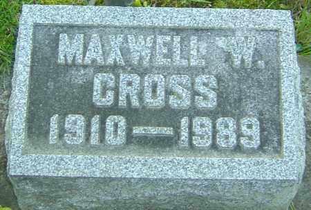 CROSS, MAXWELL W - Montgomery County, Ohio | MAXWELL W CROSS - Ohio Gravestone Photos