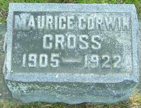 CROSS, MAURICE CORWIN - Montgomery County, Ohio | MAURICE CORWIN CROSS - Ohio Gravestone Photos