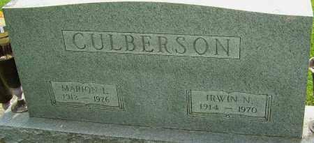 CULBERSON, IRWIN N - Montgomery County, Ohio | IRWIN N CULBERSON - Ohio Gravestone Photos