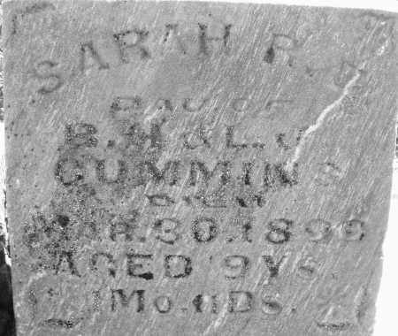 CUMMINS, SARAH R. - Montgomery County, Ohio | SARAH R. CUMMINS - Ohio Gravestone Photos