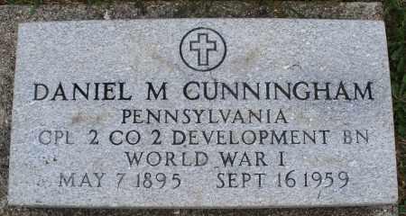 CUNNINGHAM, DANIEL M. - Montgomery County, Ohio   DANIEL M. CUNNINGHAM - Ohio Gravestone Photos