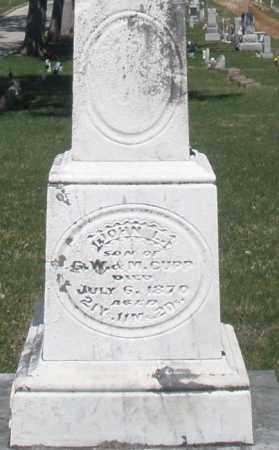 CUPP, JOHN L. - Montgomery County, Ohio | JOHN L. CUPP - Ohio Gravestone Photos
