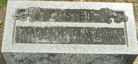 CUSTER, SALLIE M - Montgomery County, Ohio | SALLIE M CUSTER - Ohio Gravestone Photos
