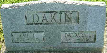 DAKIN, PAUL E - Montgomery County, Ohio | PAUL E DAKIN - Ohio Gravestone Photos