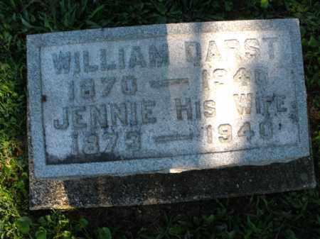 DARST, JENNIE - Montgomery County, Ohio   JENNIE DARST - Ohio Gravestone Photos