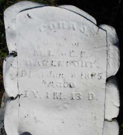 DAVENPORT, CORA J. - Montgomery County, Ohio | CORA J. DAVENPORT - Ohio Gravestone Photos