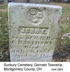 DAVIDSON, JOHN E - Montgomery County, Ohio | JOHN E DAVIDSON - Ohio Gravestone Photos