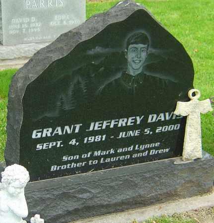 DAVIS, GRANT JEFFREY - Montgomery County, Ohio   GRANT JEFFREY DAVIS - Ohio Gravestone Photos