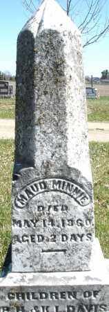 DAVIS, MAUD MINNIE - Montgomery County, Ohio | MAUD MINNIE DAVIS - Ohio Gravestone Photos