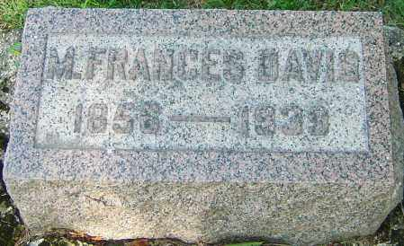 NORRIS DAVIS, M. FRANCES - Montgomery County, Ohio | M. FRANCES NORRIS DAVIS - Ohio Gravestone Photos