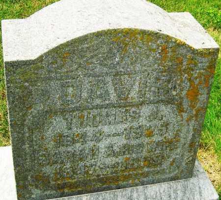 DAVIS, SARAH - Montgomery County, Ohio | SARAH DAVIS - Ohio Gravestone Photos