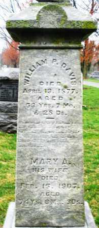 DAVIS, MARY A. - Montgomery County, Ohio | MARY A. DAVIS - Ohio Gravestone Photos