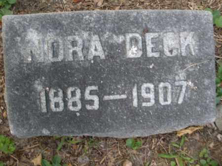 DECK, NORA - Montgomery County, Ohio | NORA DECK - Ohio Gravestone Photos