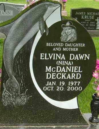 DECKARD, ELVINA DAWN - Montgomery County, Ohio   ELVINA DAWN DECKARD - Ohio Gravestone Photos