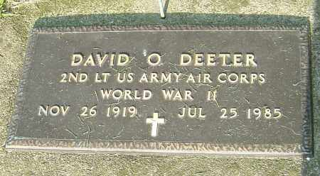 DEETER, DAVID O - Montgomery County, Ohio | DAVID O DEETER - Ohio Gravestone Photos