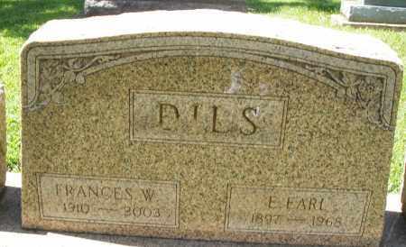 DILS, FRANCES W. - Montgomery County, Ohio   FRANCES W. DILS - Ohio Gravestone Photos
