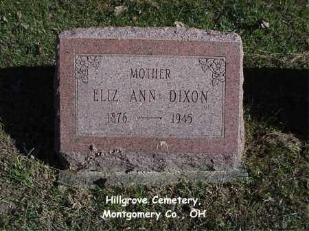 DIXON, ELIZABETH - Montgomery County, Ohio   ELIZABETH DIXON - Ohio Gravestone Photos