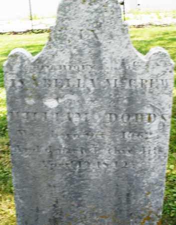 MCGREW ? DODDS, ISABELLE - Montgomery County, Ohio | ISABELLE MCGREW ? DODDS - Ohio Gravestone Photos