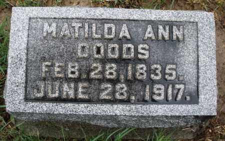 DODDS, MATILDA ANN - Montgomery County, Ohio   MATILDA ANN DODDS - Ohio Gravestone Photos