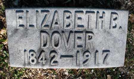 DOVER, ELIZABETH B. - Montgomery County, Ohio   ELIZABETH B. DOVER - Ohio Gravestone Photos