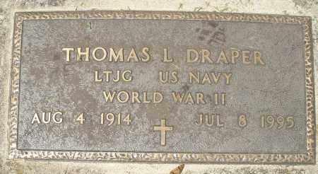 DRAPER, THOMAS L. - Montgomery County, Ohio | THOMAS L. DRAPER - Ohio Gravestone Photos