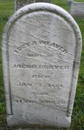 WEAVER DRAXER, LUCY A. - Montgomery County, Ohio   LUCY A. WEAVER DRAXER - Ohio Gravestone Photos