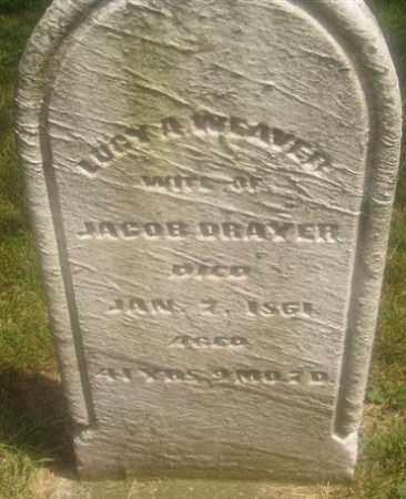 WEAVER DRAYER, LUCY A. - Montgomery County, Ohio | LUCY A. WEAVER DRAYER - Ohio Gravestone Photos