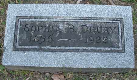DRURY, SOPHIA B. - Montgomery County, Ohio   SOPHIA B. DRURY - Ohio Gravestone Photos