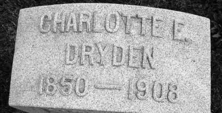 DRYDEN, CHARLOTTE E. - Montgomery County, Ohio   CHARLOTTE E. DRYDEN - Ohio Gravestone Photos