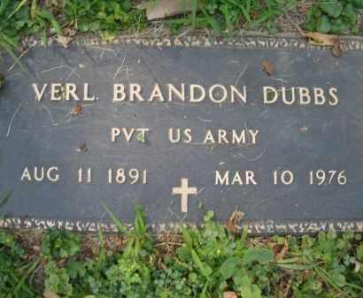 DUBBS, VERL BRANDON - Montgomery County, Ohio   VERL BRANDON DUBBS - Ohio Gravestone Photos