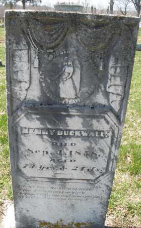 DUCKWALL, HENRY - Montgomery County, Ohio | HENRY DUCKWALL - Ohio Gravestone Photos