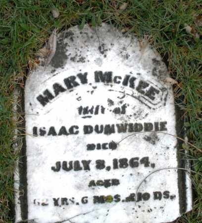 DUMWIDDIE, MARY - Montgomery County, Ohio | MARY DUMWIDDIE - Ohio Gravestone Photos