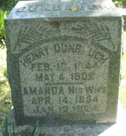 DUNBAUGH, AMANDA - Montgomery County, Ohio | AMANDA DUNBAUGH - Ohio Gravestone Photos
