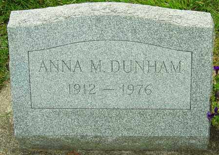 DUNHAM, ANNA M - Montgomery County, Ohio   ANNA M DUNHAM - Ohio Gravestone Photos
