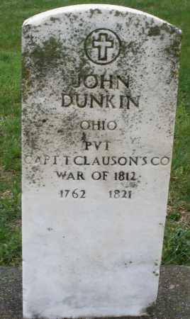DUNKIN, JOHN - Montgomery County, Ohio | JOHN DUNKIN - Ohio Gravestone Photos