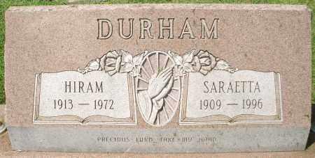 DURHAM, SARETTA - Montgomery County, Ohio   SARETTA DURHAM - Ohio Gravestone Photos