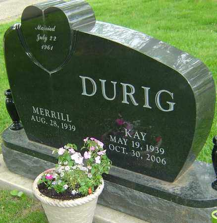 DURIG, KAY - Montgomery County, Ohio | KAY DURIG - Ohio Gravestone Photos