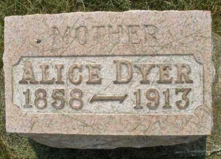 DYER, ALICE - Montgomery County, Ohio | ALICE DYER - Ohio Gravestone Photos