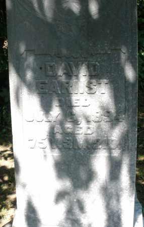 EARNST, DAVID - Montgomery County, Ohio   DAVID EARNST - Ohio Gravestone Photos