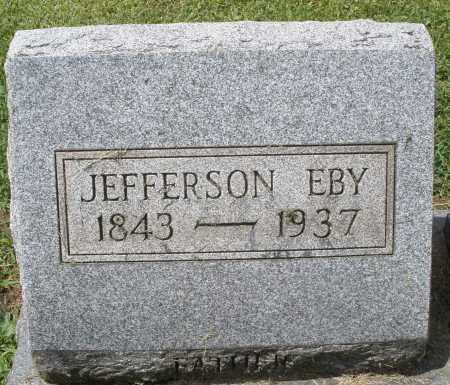 EBY, JEFFERSON - Montgomery County, Ohio | JEFFERSON EBY - Ohio Gravestone Photos