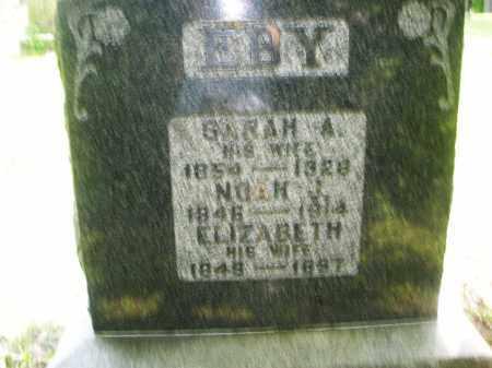 EBY, SARAH A. - Montgomery County, Ohio   SARAH A. EBY - Ohio Gravestone Photos
