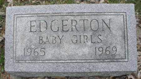 EDGERTON, BABY GIRLS - Montgomery County, Ohio   BABY GIRLS EDGERTON - Ohio Gravestone Photos