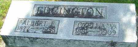 EDGINGTON, ALBERT F - Montgomery County, Ohio | ALBERT F EDGINGTON - Ohio Gravestone Photos