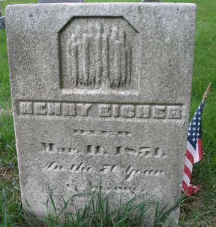 EICHER, HENRY - Montgomery County, Ohio | HENRY EICHER - Ohio Gravestone Photos