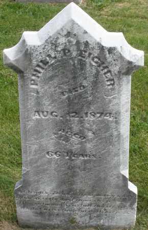 EICHER, PHILLIP - Montgomery County, Ohio   PHILLIP EICHER - Ohio Gravestone Photos