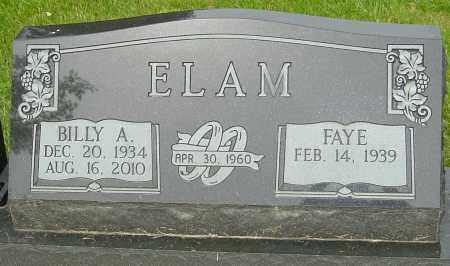 ELAM, BILLY A - Montgomery County, Ohio | BILLY A ELAM - Ohio Gravestone Photos