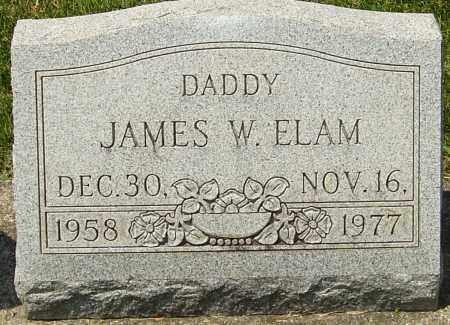 ELAM, JAMES WALTER - Montgomery County, Ohio | JAMES WALTER ELAM - Ohio Gravestone Photos